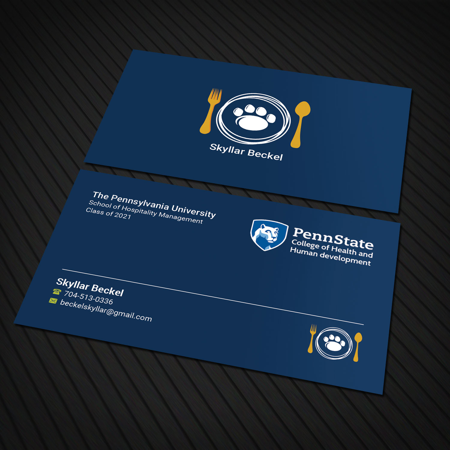 Bold, Upmarket, Hospitality Business Card Design for a Company by ...