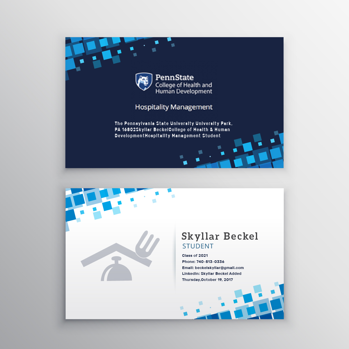 Hospitality Business Card Design