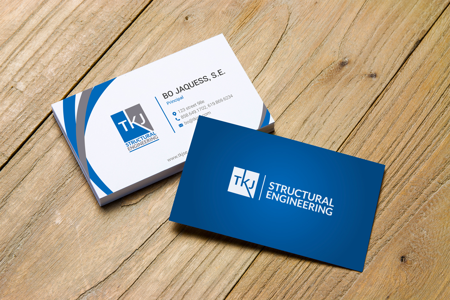 Business Business Card Design for TKJ Structural Engineering by ...