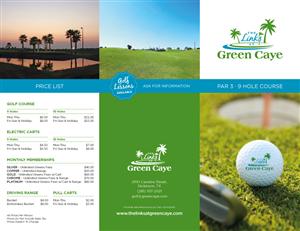 4 Bold Modern Golf Course Brochure Designs for a Golf Course ...