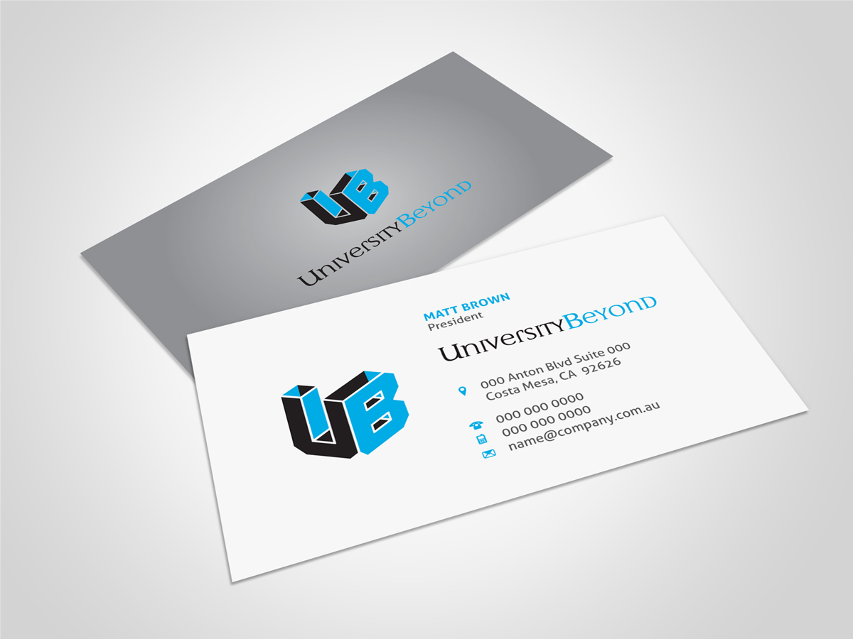 Modern, Bold Business Card Design for Brendan Weinstein by asimali ...