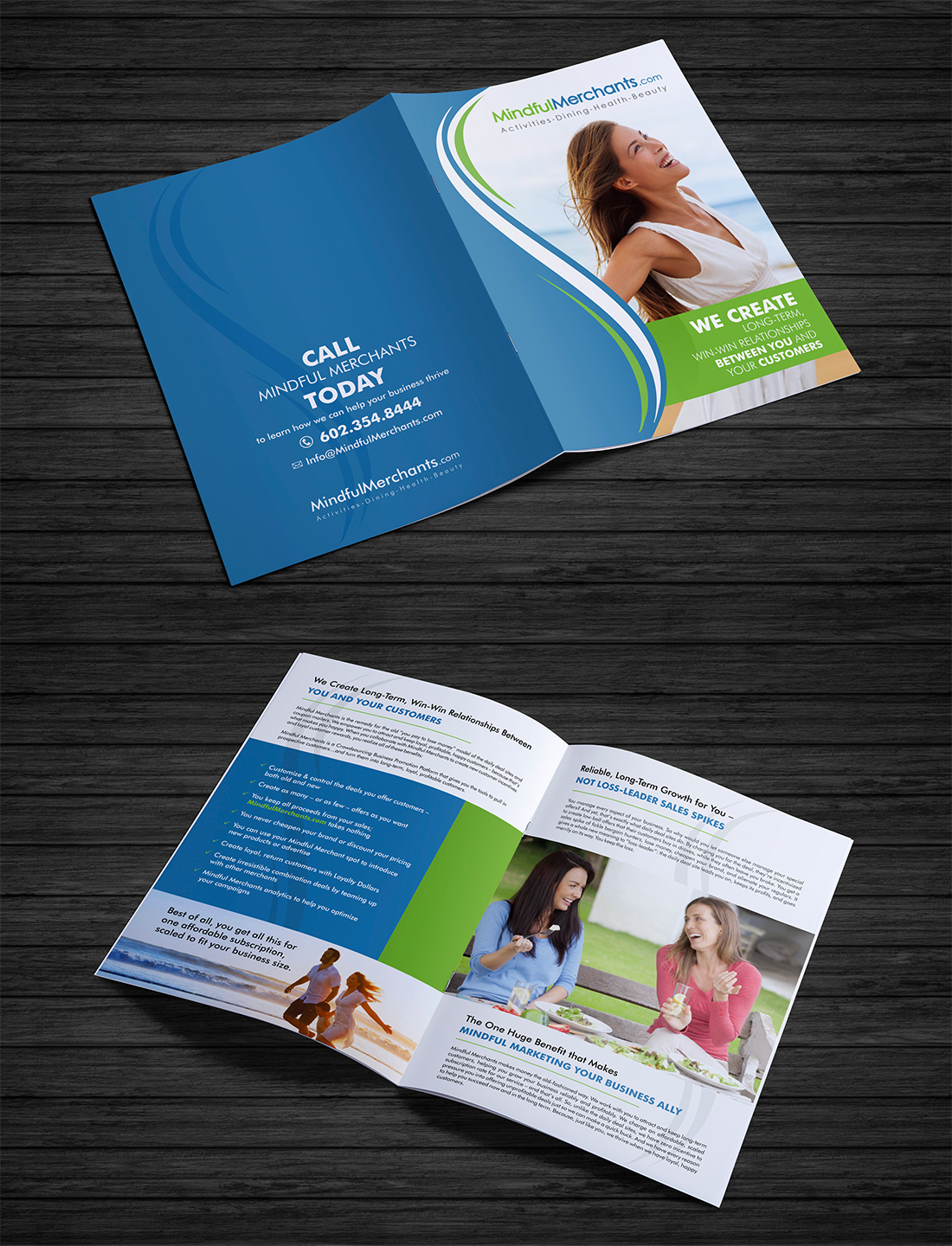 modern professional marketing brochure design for a company by