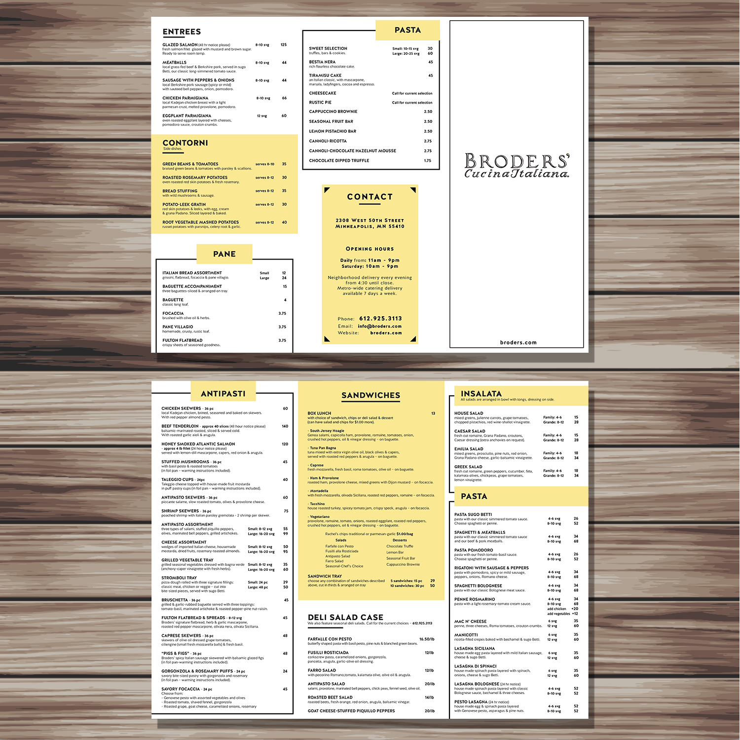 Catering menu design for broders 39 cucina italiana by yns for Cucina italiana design