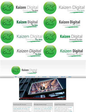 Logo Design job – Kaizen Digital SEO Company Website logo – Winning design by 4inArt Studio
