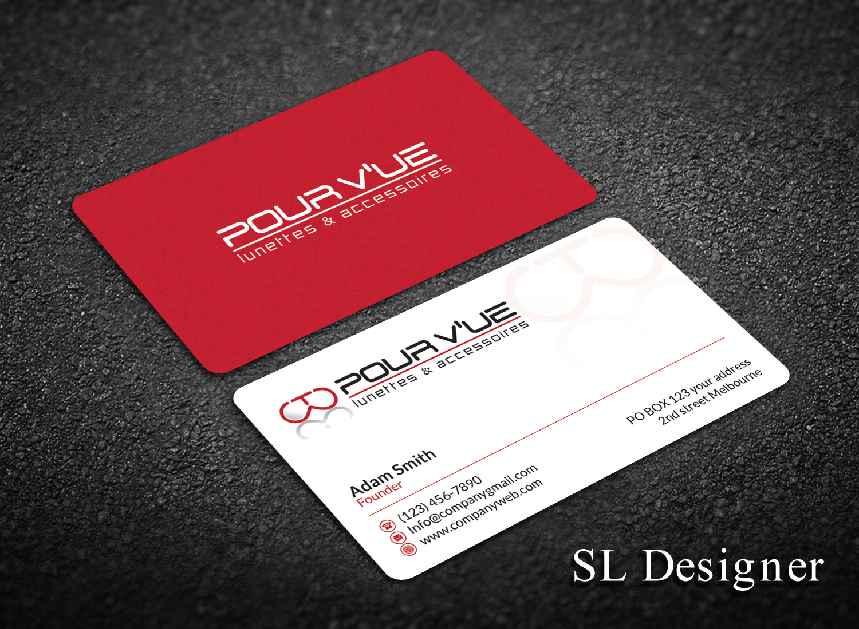 Elegant playful store business card design for pour vue by sl business card design by sl designer for pour vue design 16564400 colourmoves