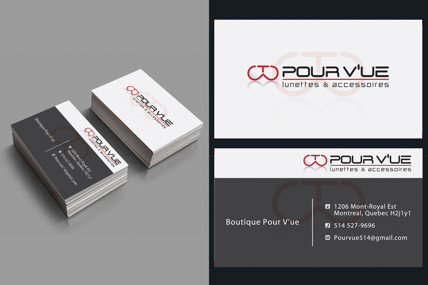 Elegant, Playful, Store Business Card Design for Pour vue by