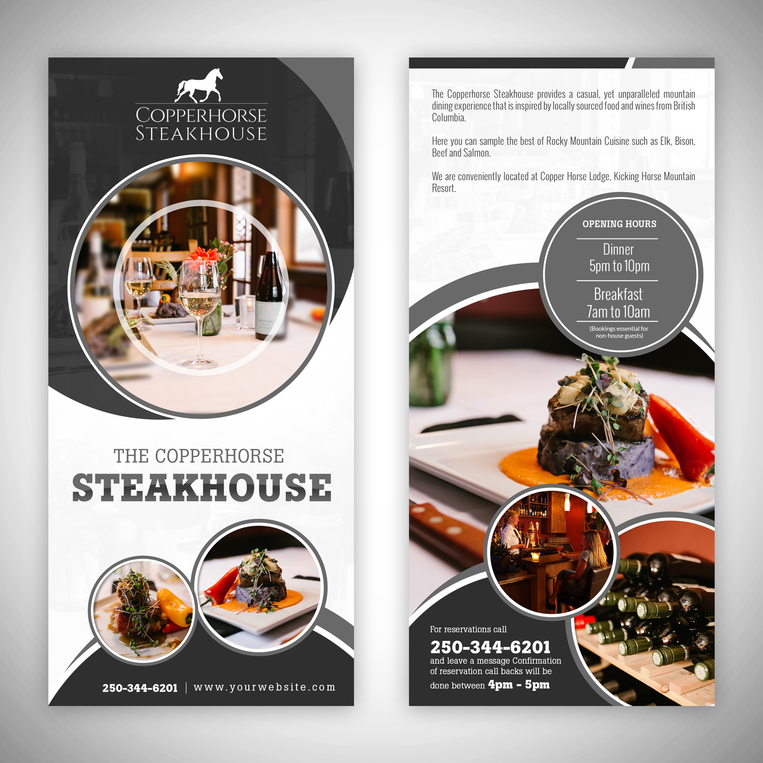 Elegant, Traditional, Restaurant Flyer Design for a Company by hih7 ...