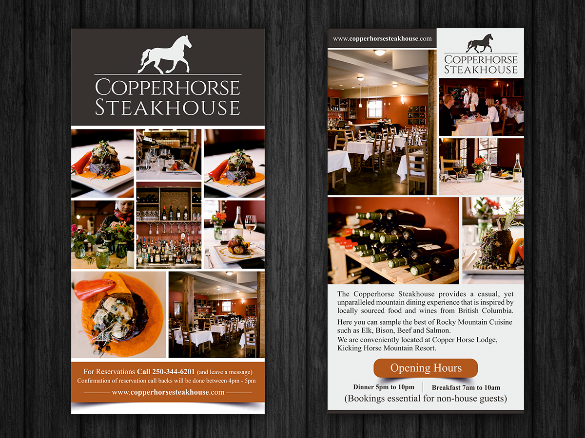 Elegant, Traditional, Restaurant Flyer Design for a Company by ESolz ...