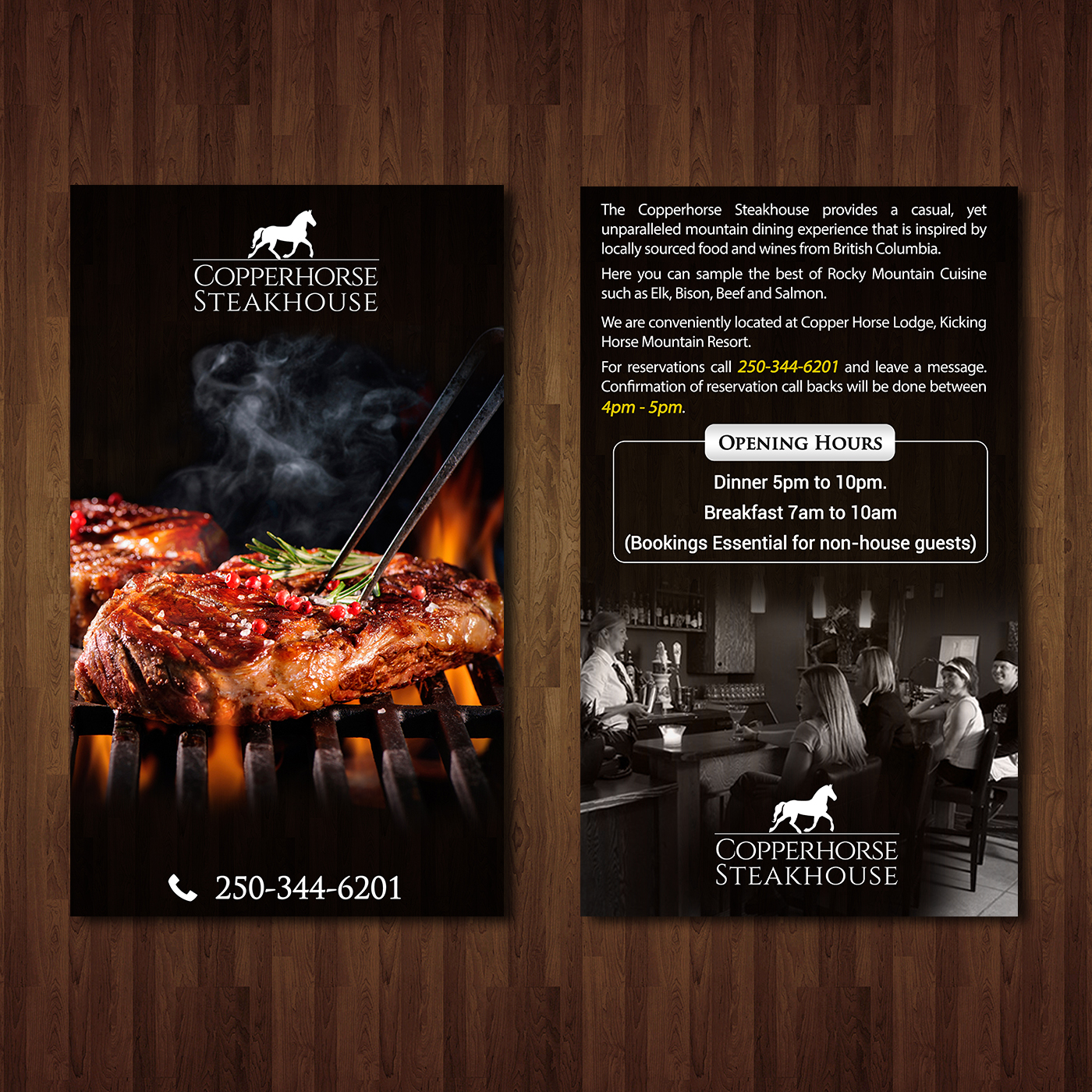 elegant traditional restaurant flyer design for a company by