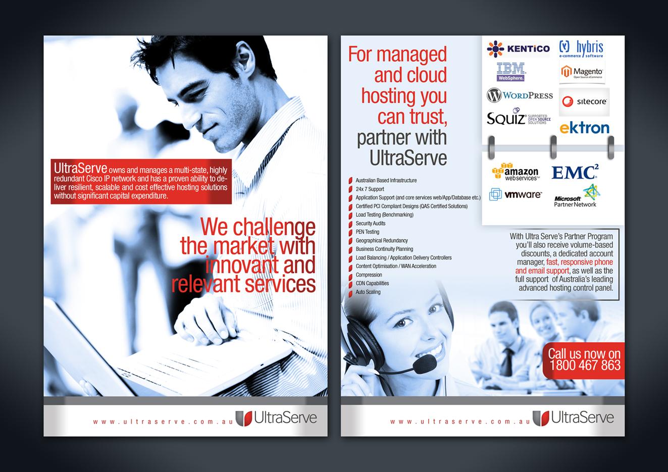 Modern, Upmarket, Digital Brochure Design for UltraServe by