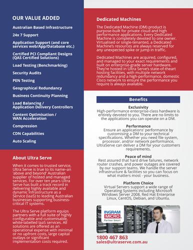 Modern, Upmarket, Digital Brochure Design for UltraServe by barinix