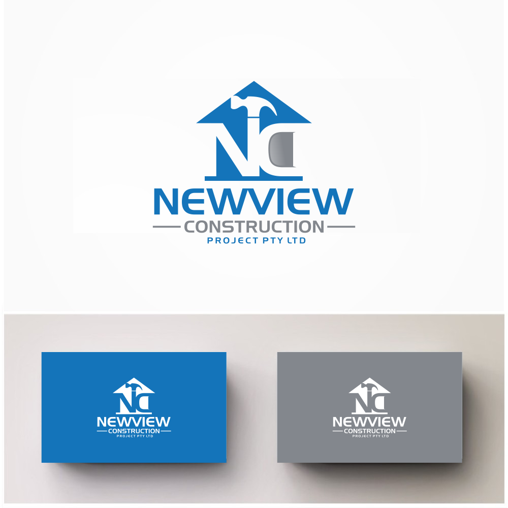 Modern professional logo design for newview construction for Modern design building services ltd