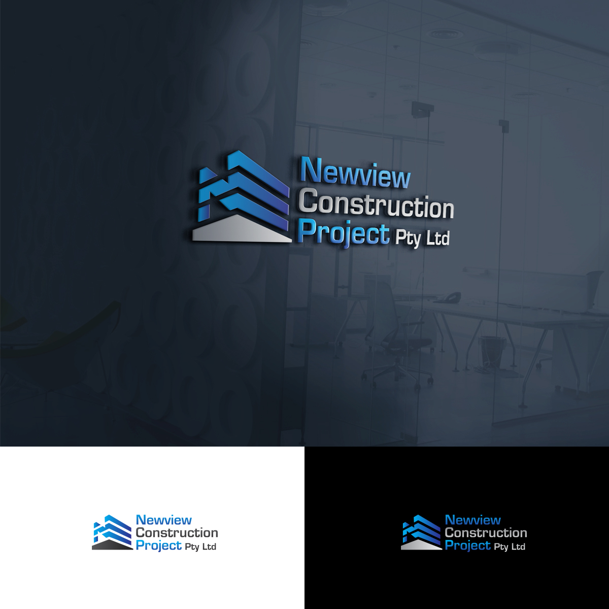 Modern professionell logo design for newview construction for Modern design building services ltd