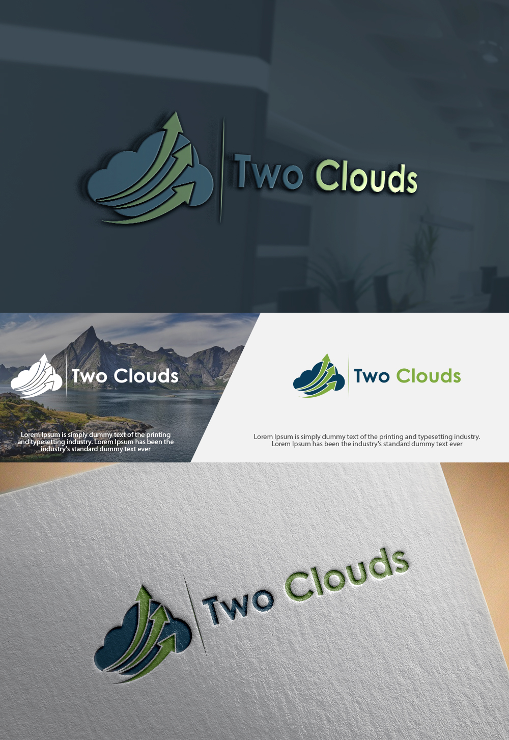 Professional, Masculine, Tech Logo Design for Two Clouds by ...