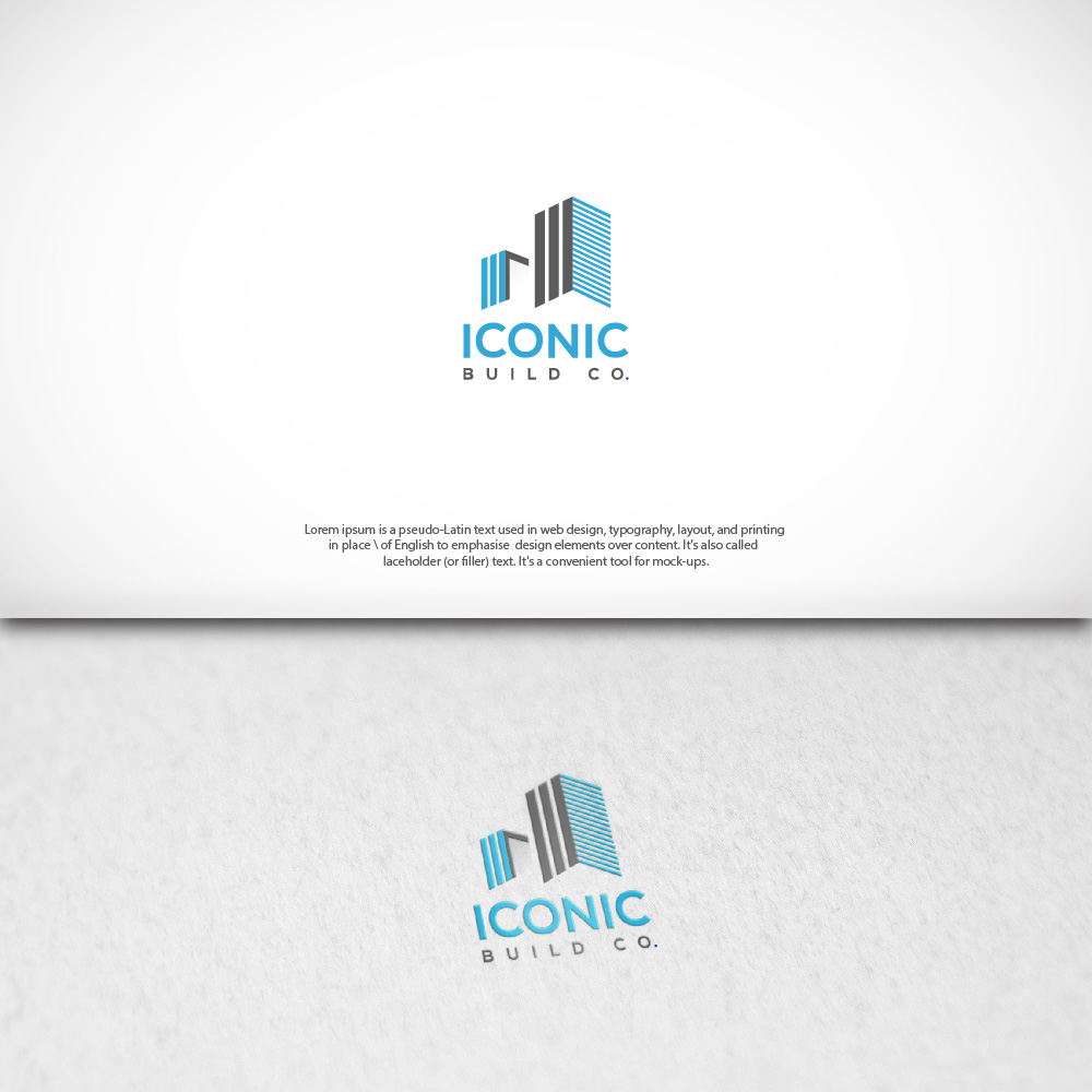 Serious, Modern, Building Logo Design for Iconic Build Co