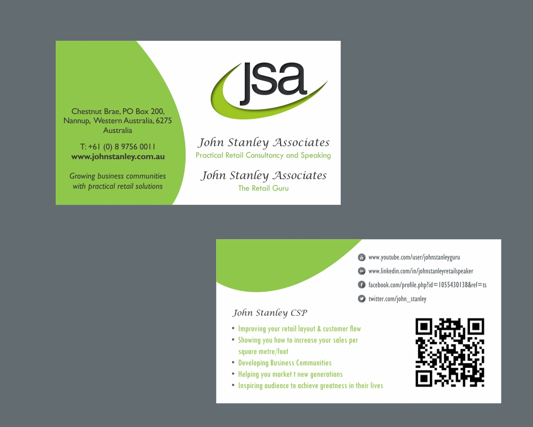 Elegant serious training business card design for john stanley business card design by savitra for john stanley associates design 2661168 colourmoves Images