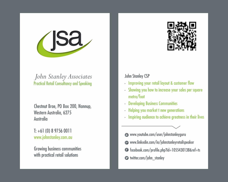 Elegant serious training business card design for john stanley business card design by savitra for john stanley associates design 2662257 colourmoves Images