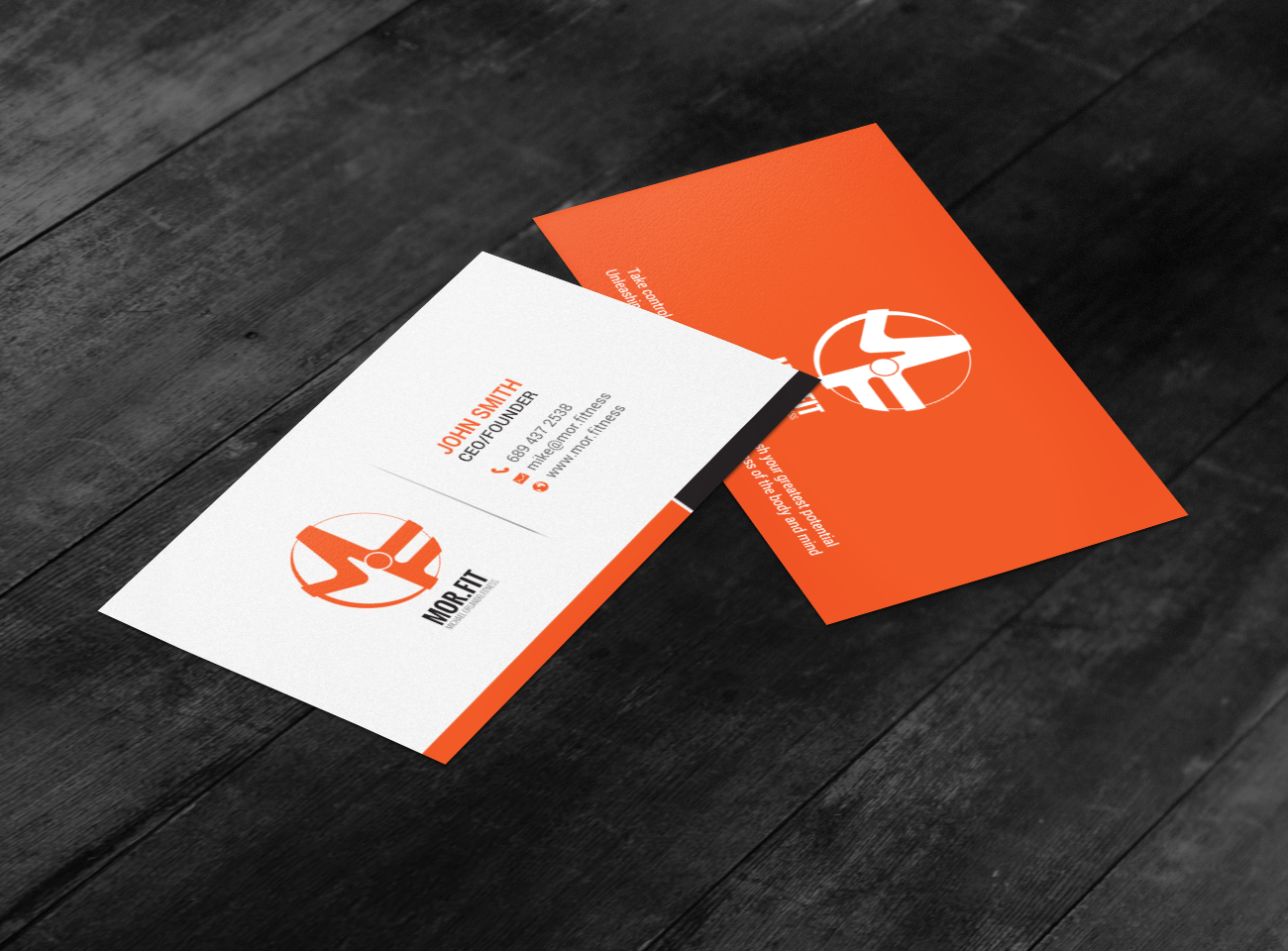 Professional modern personal trainer business card design for business card design by chandrayaaneative for michael orlando fitness design 16736005 colourmoves