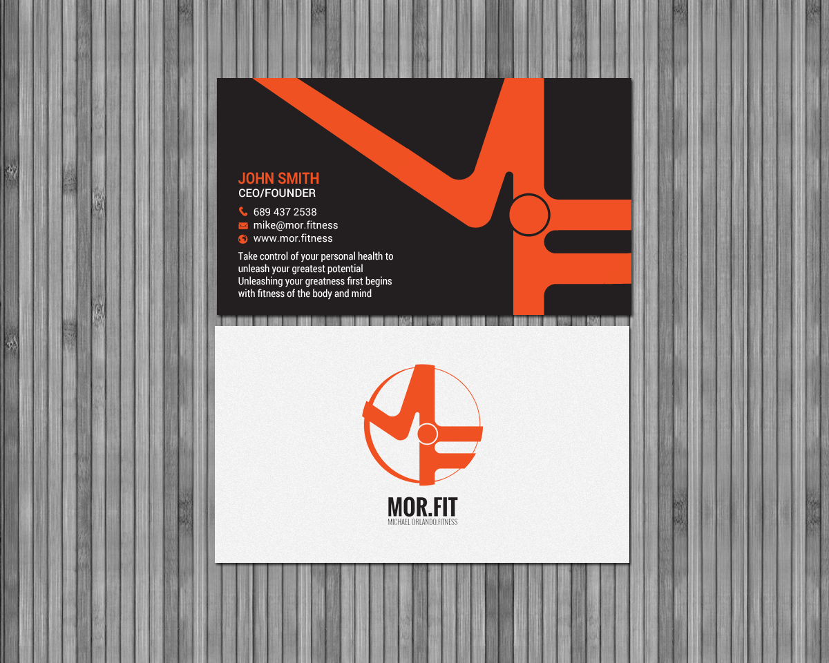 Business Card Design By Chandrayaan Creative For Mor Fit Michael Orlando Fitness