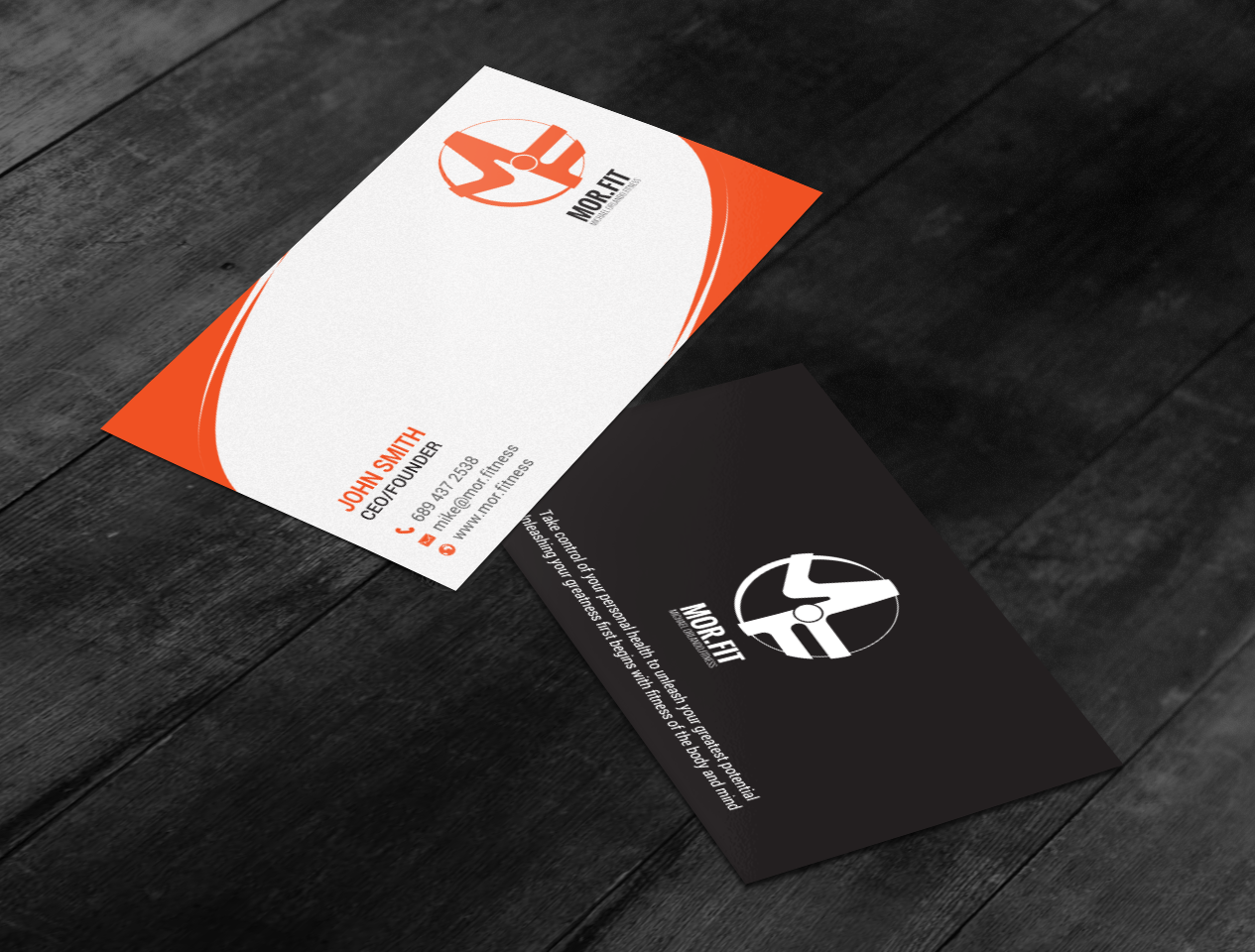 Professional, Modern, Personal Trainer Business Card Design for ...