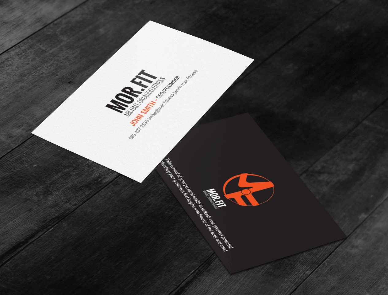 Professional modern personal trainer business card design for business card design by chandrayaaneative for michael orlando fitness design 16736438 colourmoves