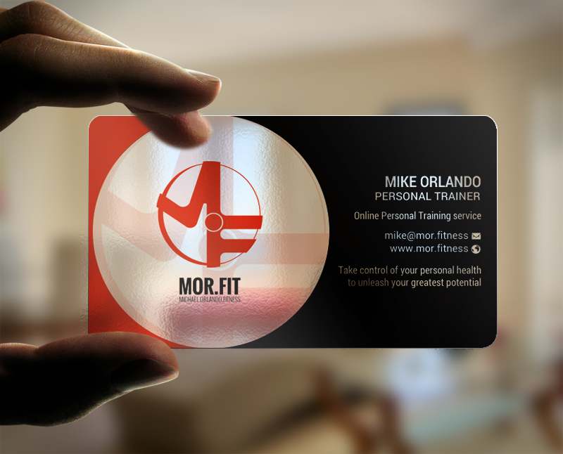 Professional modern business card design for michael orlando business card design by chandrayaaneative for mort michael orlando fitness colourmoves Images
