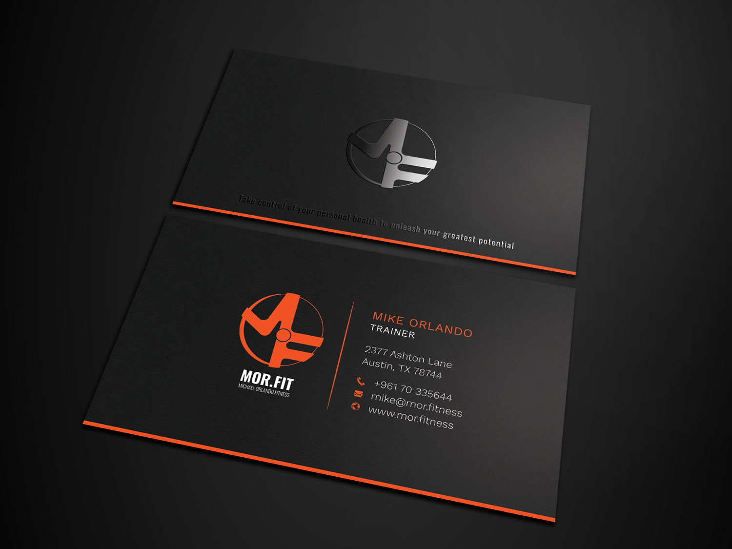 Professional Modern Personal Trainer Business Card Design