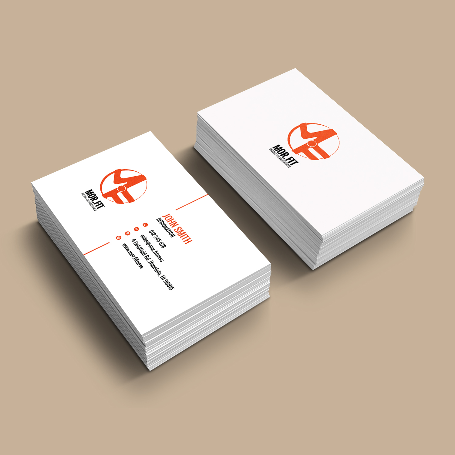Professional Modern Personal Trainer Business Card Design For