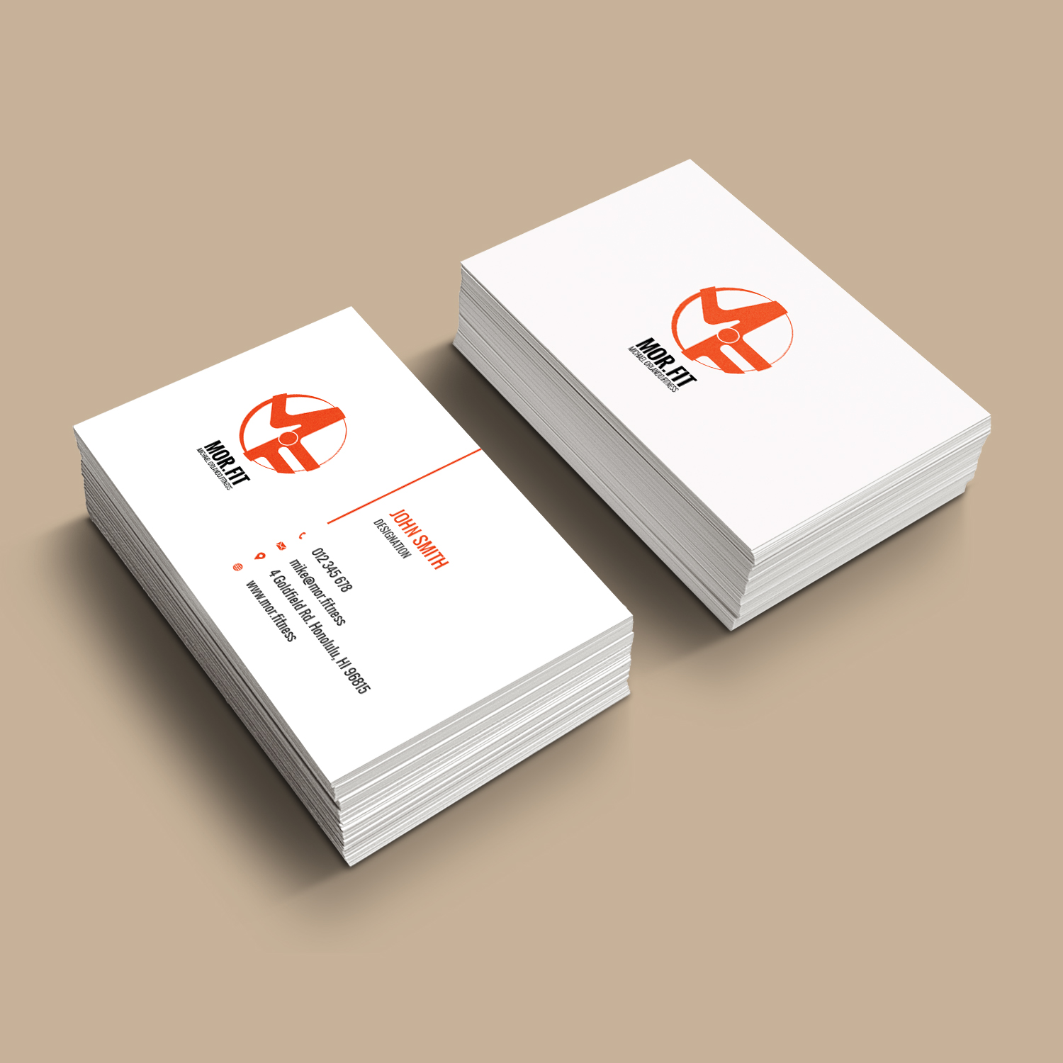 Professional modern personal trainer business card design for business card design by bdesigner9 for michael orlando fitness design 16768847 reheart Image collections
