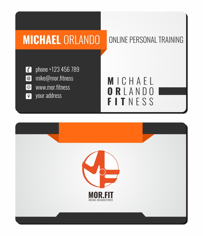 Design De Carte Visite Par Achmadnashiruddin10 Pour Michael Orlando Fitness