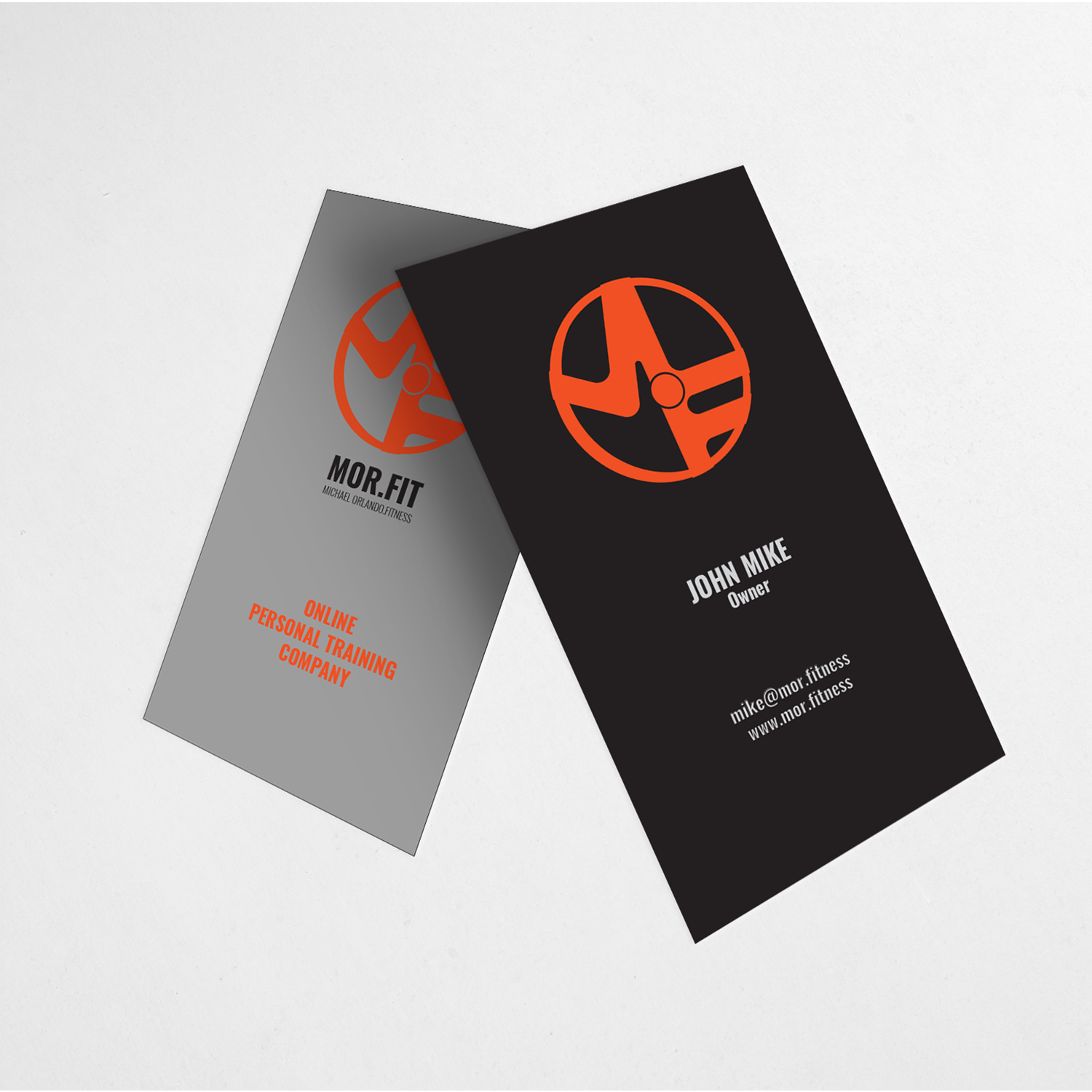Professional modern personal trainer business card design for business card design by hr khan for michael orlando fitness design 16814052 reheart Image collections