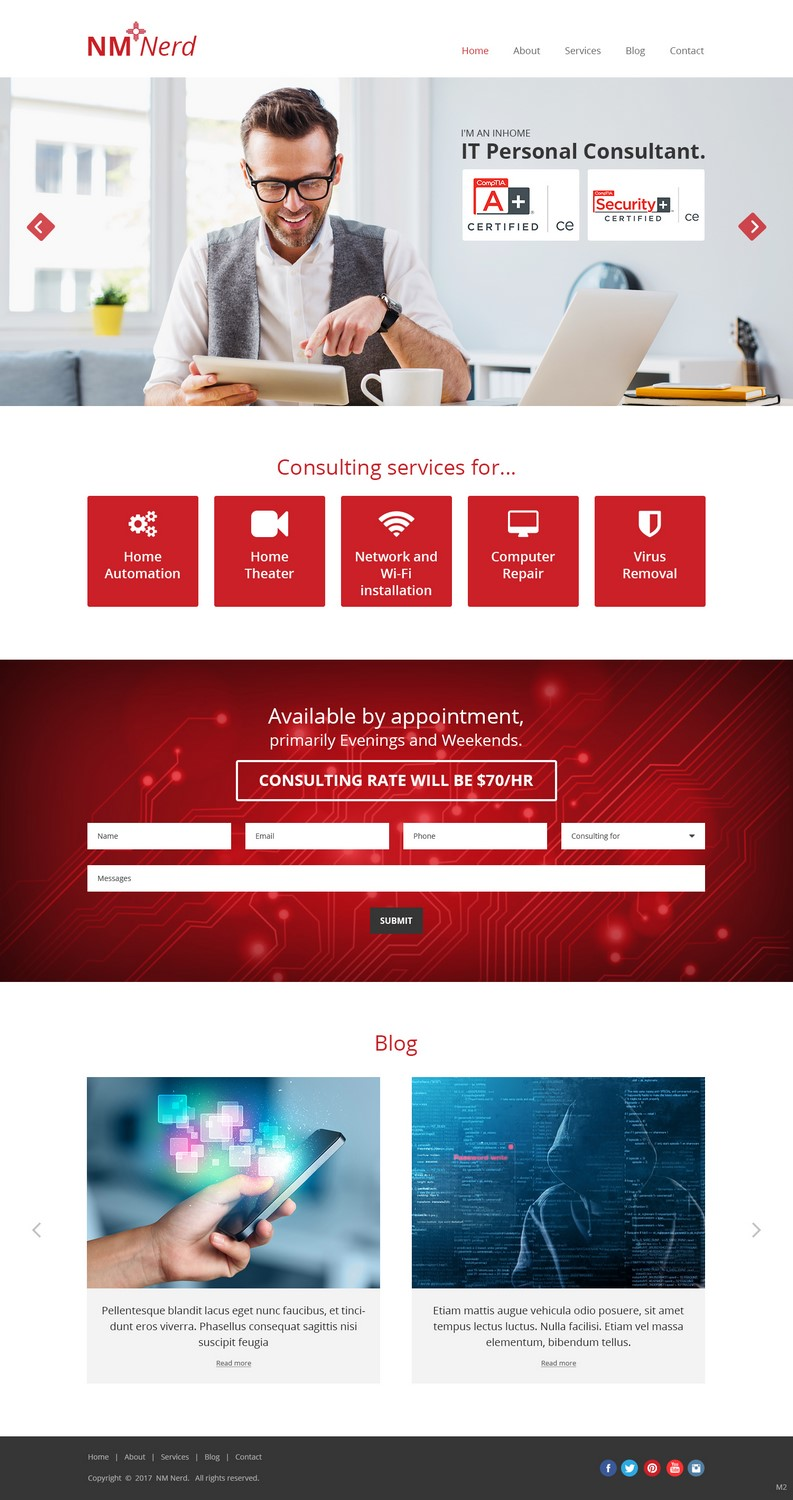 Elegant playful consulting web design for a company by for Web design consultant