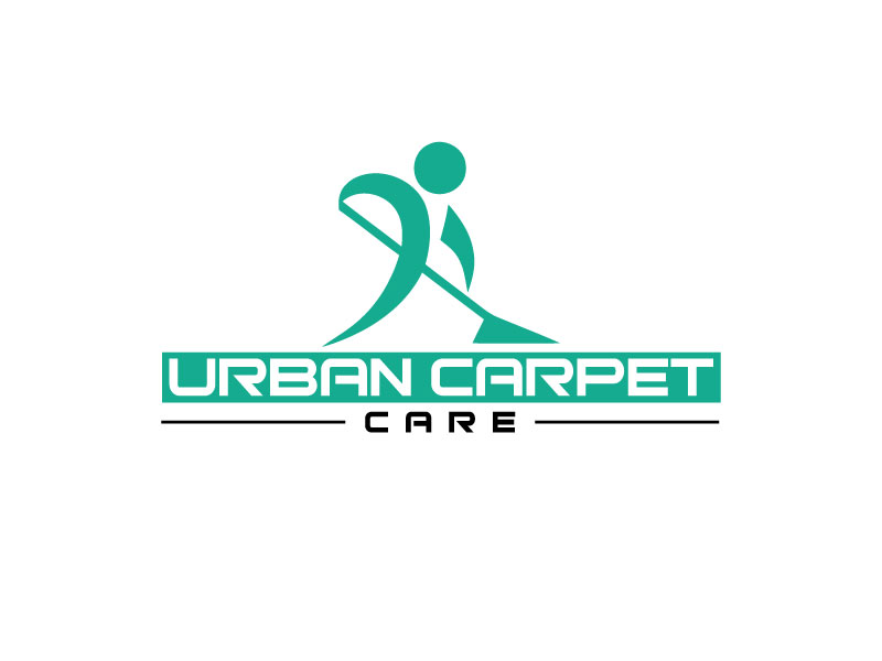 bold serious cleaning service logo design for urban carpet care by