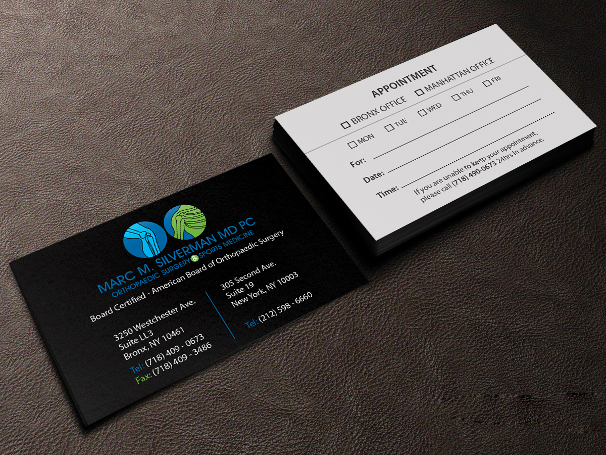 148 elegant business card designs business business card design business card design by creations box 2015 for marc silverman md pc design colourmoves