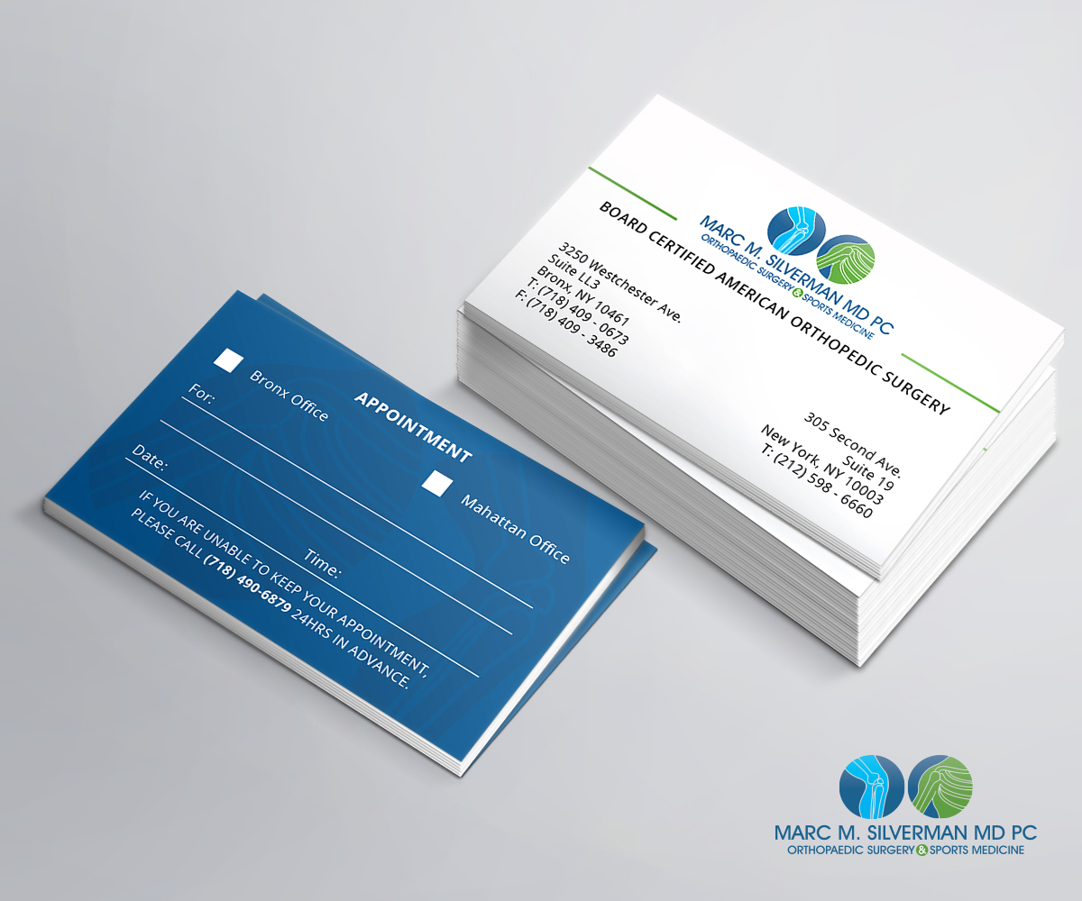 Elegant playful business business card design for marc silverman business card design by abdul haseeb for marc silverman md pc design 16703710 colourmoves