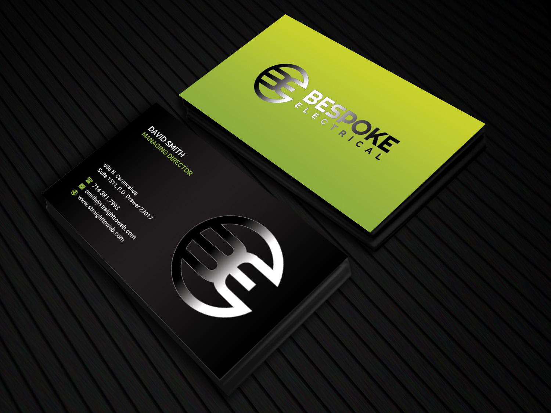 Bold modern electrical business card design for bespoke electrical bold modern electrical business card design for bespoke electrical inc in canada design 16701907 reheart Choice Image