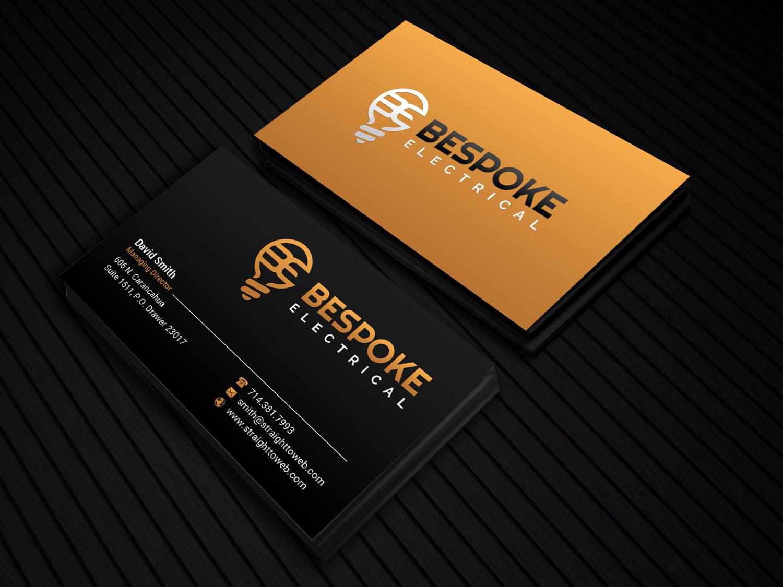 bold  modern  electrical business card design for bespoke electrical by sandaruwan