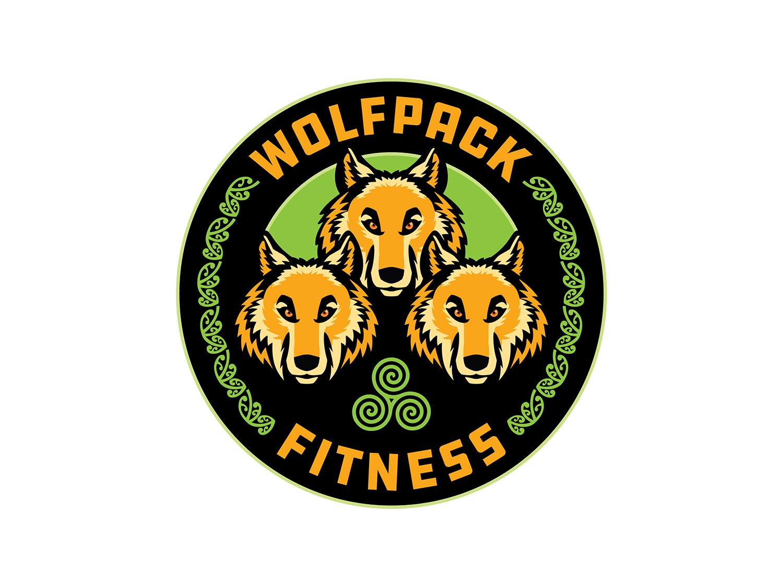 Celtic Wolves Fitness logo by brianritterdesign