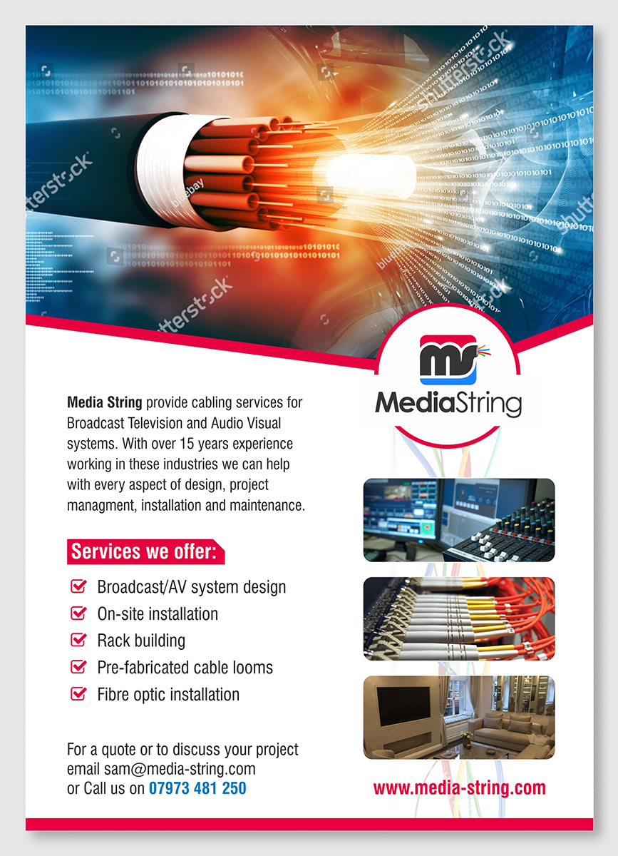modern professional it company flyer design for a company by