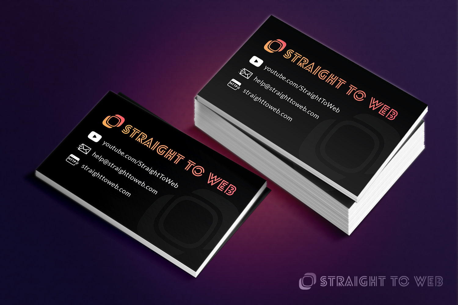 Modern, Serious, Business Business Card Design for Straight To Web ...
