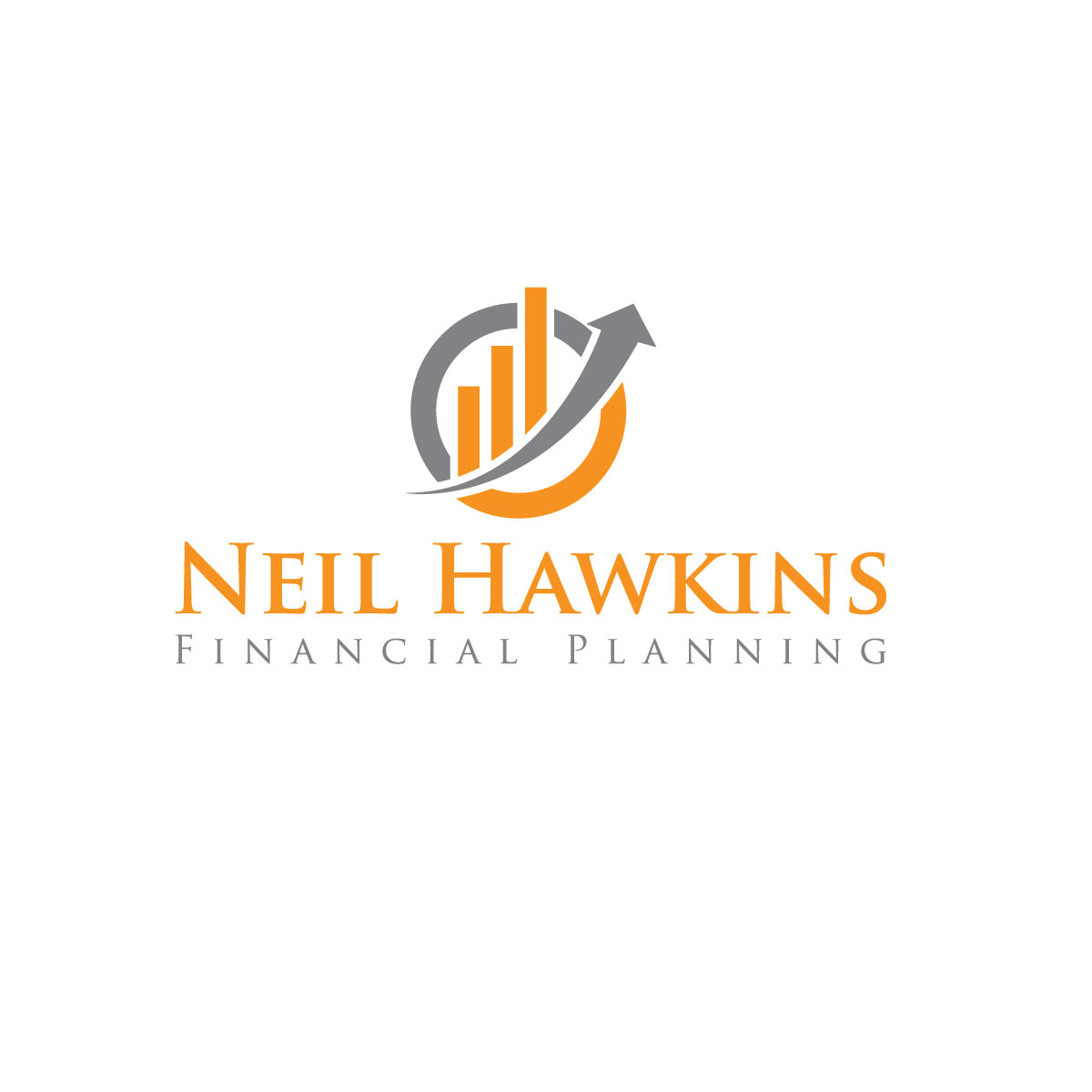 modern professional financial planning logo design for neil