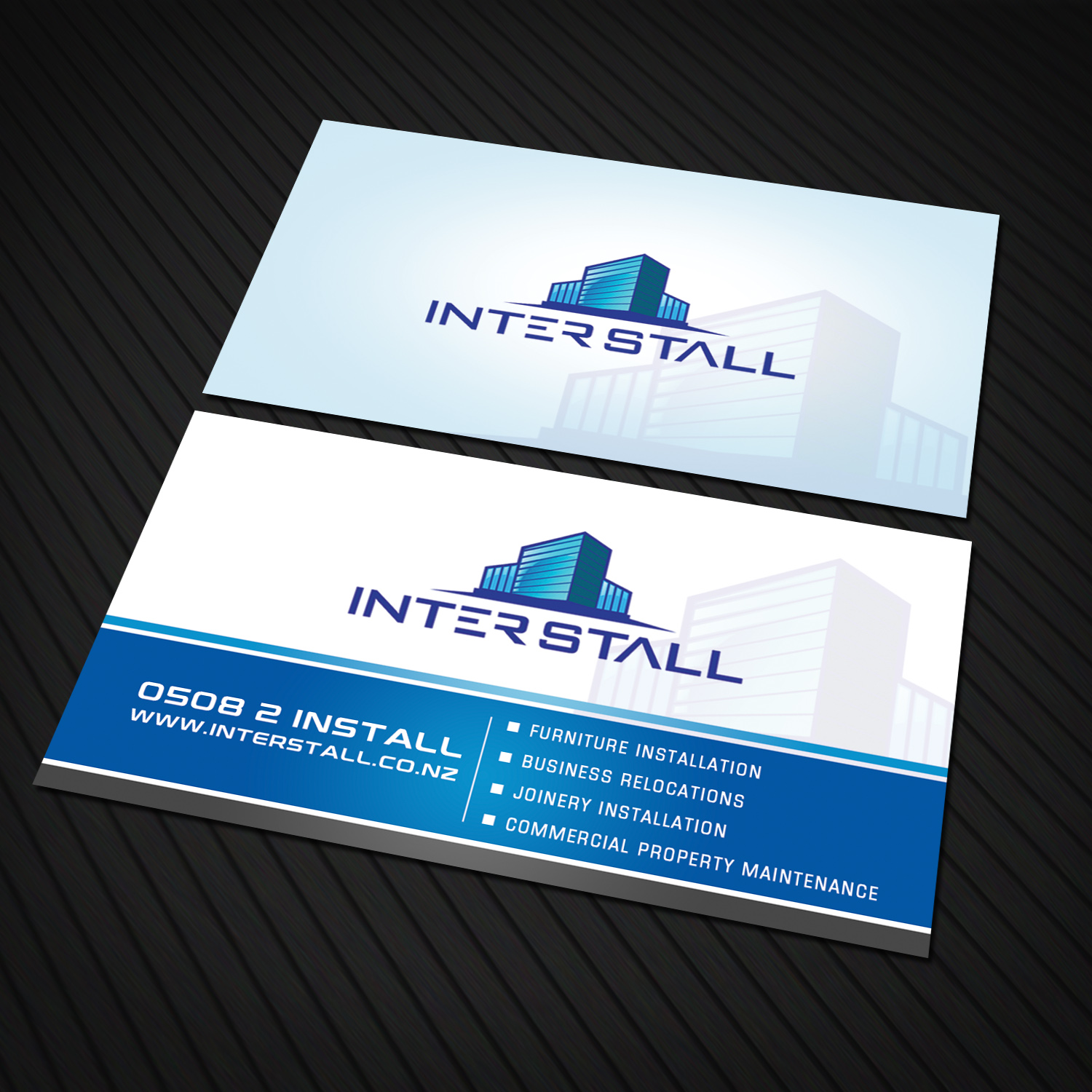 Serious modern trade business card design for interstall ltd by business card design by sandaruwan for interstall ltd design 16616837 colourmoves