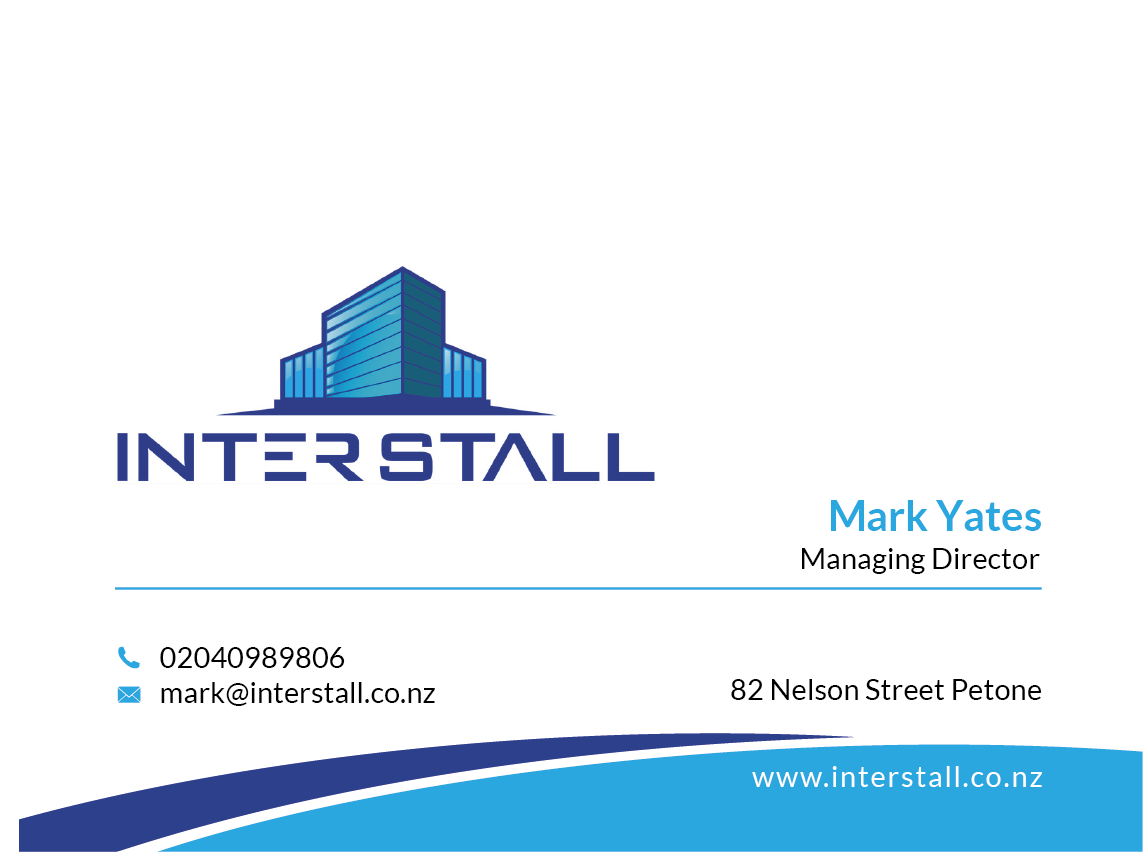 Serious modern business card design for interstall ltd by business card design by skydesign for relocationfurniture installation company needs new business cards reheart Images