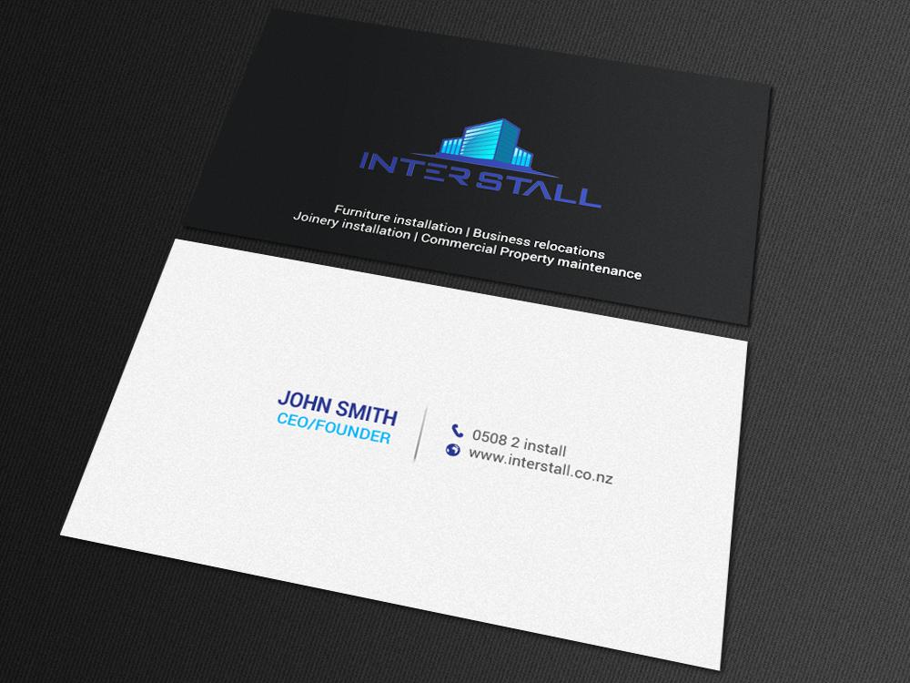 Serious, Modern, Trade Business Card Design for Interstall ltd by ...