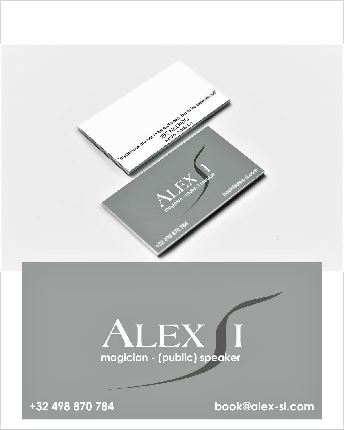 Modern, Professional Business Card Design for Alex Si by ...
