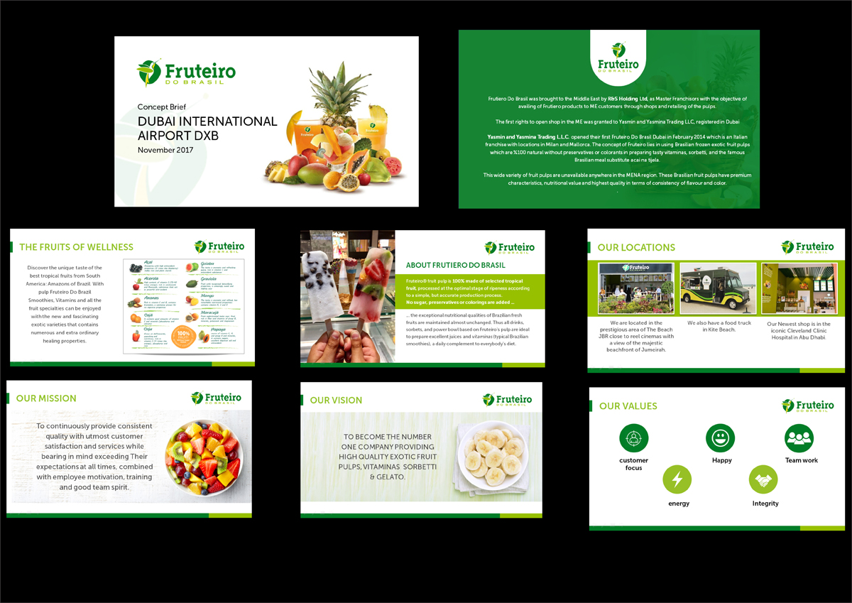 Colorful, Elegant, Food Service PowerPoint Design for a