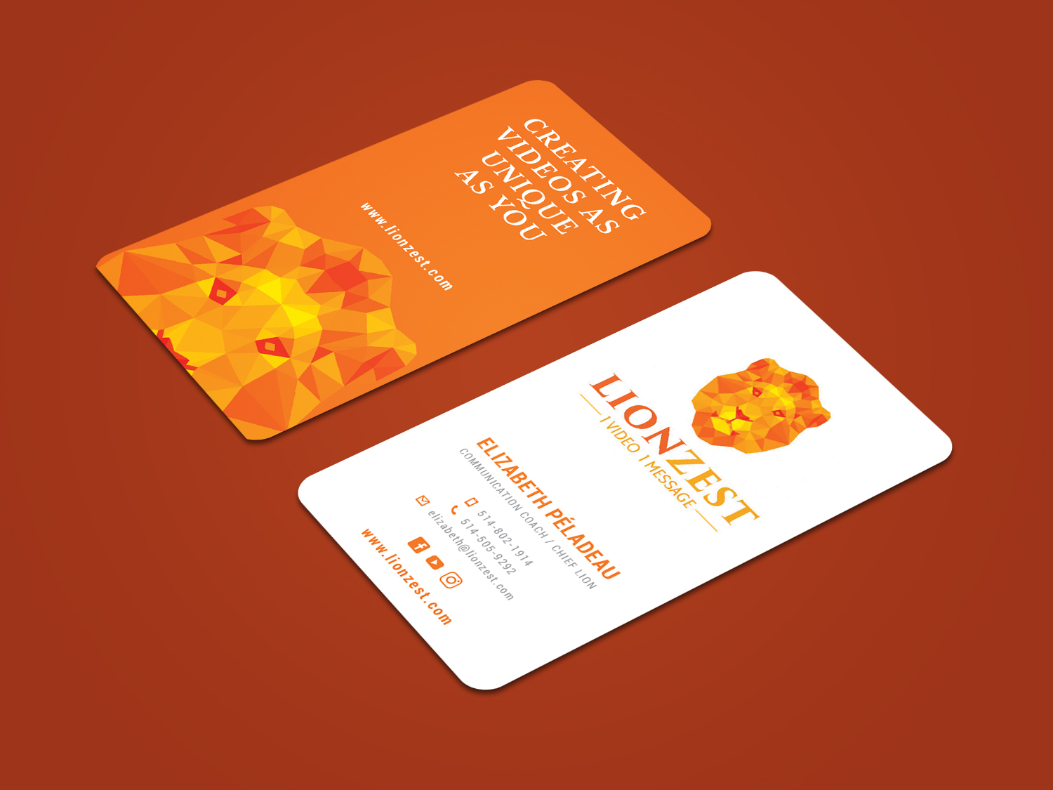 Playful, Colorful, Communications Business Card Design for a Company ...