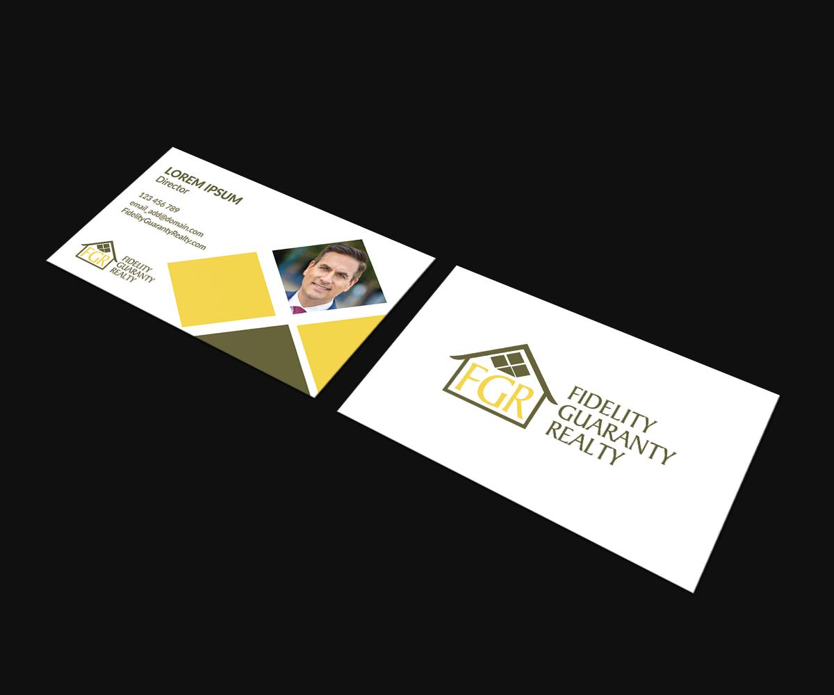 Modern upmarket real estate agent business card design for a business card design by jk18 for this project design 16635227 reheart Images