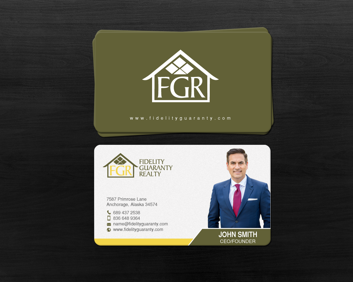 Modern upmarket real estate agent business card design for a business card design by chandrayaaneative for this project design 16637018 reheart Images