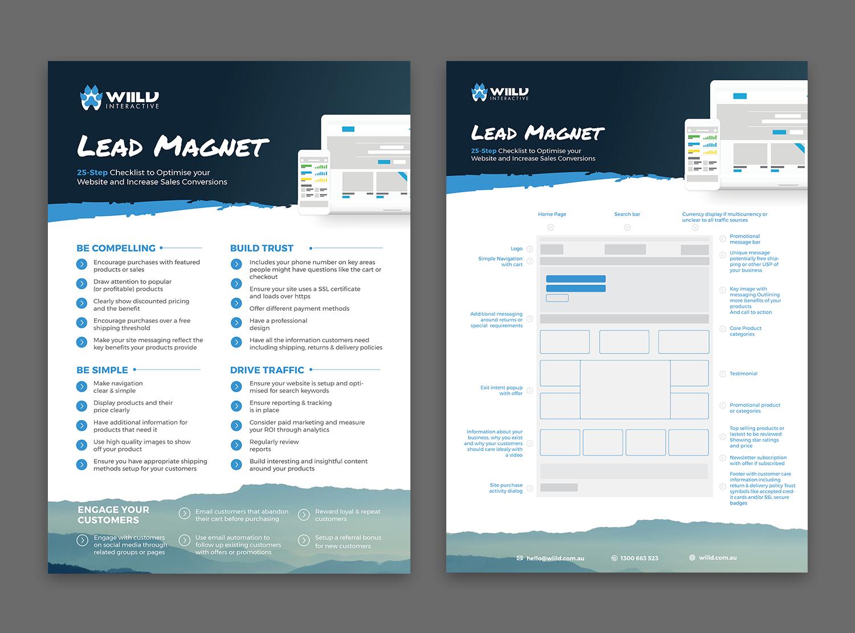 Digital brochure design for wiild interactive pty ltd by for Interactive brochure design